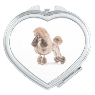 Poodle -- Show Coat Travel Mirror