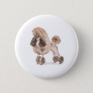 Poodle -- Show Coat Pinback Button