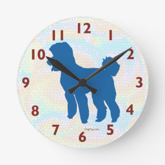 Poodle Silhouette Art Wall Clock