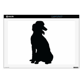 Poodle Silhouette Laptop Decal