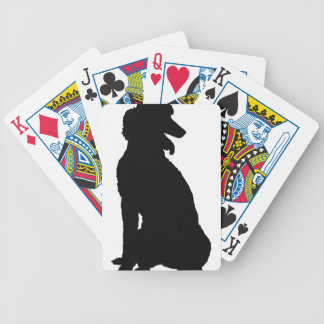 Poodle Silhouette Card Deck
