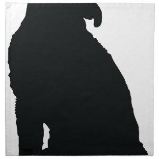 Poodle Silhouette Printed Napkin