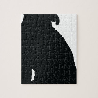 Poodle Silhouette Jigsaw Puzzle