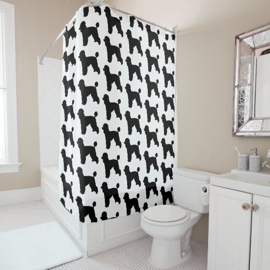 Poodle Silhouette Shower Curtain