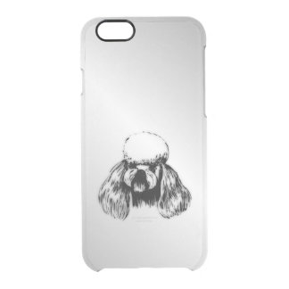 Poodle Silver Clear iPhone 6/6S Case