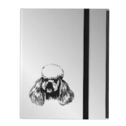 Powis iCase iPad Case with Kickstand with Poodle Phone Cases design