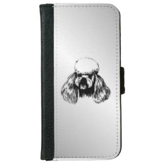 Poodle Silver iPhone 6/6s Wallet Case
