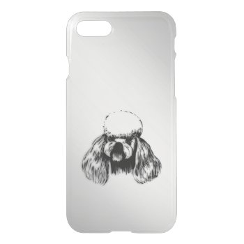 Poodle Silver iPhone 7 Case