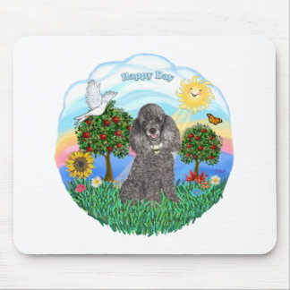Poodle (silver toy) mouse pad