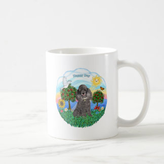Poodle (silver toy) classic white coffee mug