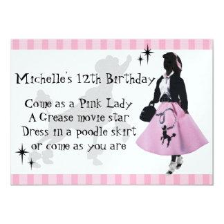 Poodle Skirt Fun Card