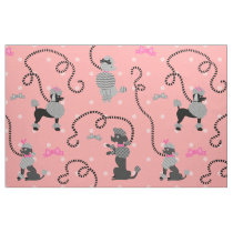 Poodle Skirt Retro Pink and Black 50s Pattern Fabric