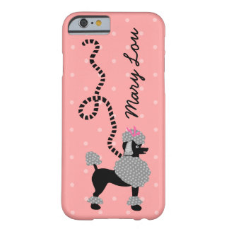 Poodle Skirt Retro Pink and Black 50s Personalized Barely There iPhone 6 Case