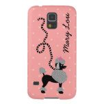 Poodle Skirt Retro Pink and Black 50s Personalized Galaxy S5 Cases