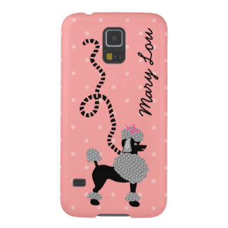 Poodle Skirt Retro Pink and Black 50s Personalized Case For Galaxy S5