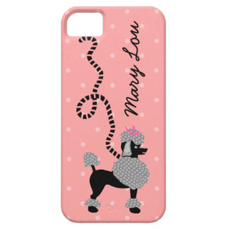 Poodle Skirt Retro Pink and Black 50s Personalized iPhone SE/5/5s Case