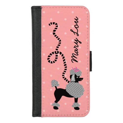 Poodle Skirt Retro Pink and Black 50s Personalized Phone Case