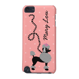 Poodle Skirt Retro Pink and Black 50s Personalized iPod Touch 5G Case