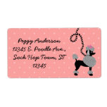 Poodle Skirt Retro Pink and Black 50s Personalized Label