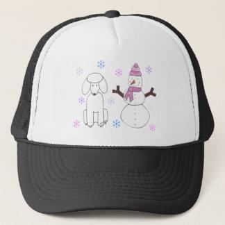 Poodle & Snowman Trucker Hat