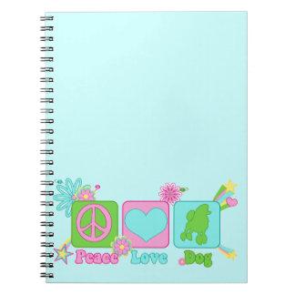 Poodle Spiral Notebook