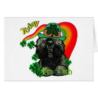 Poodle St Patricks Day Card