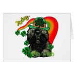 Poodle St Patricks Day Cards