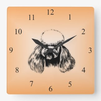Poodle Star Wall Clock