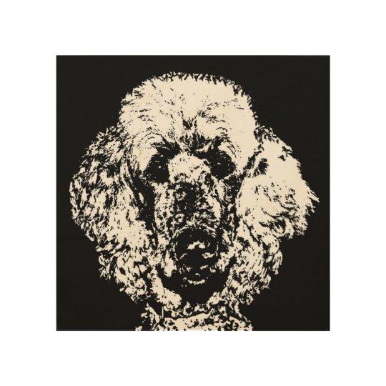 Poodle Stencil Wood 8\