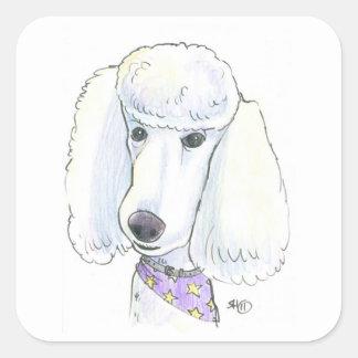 Poodle Square Sticker