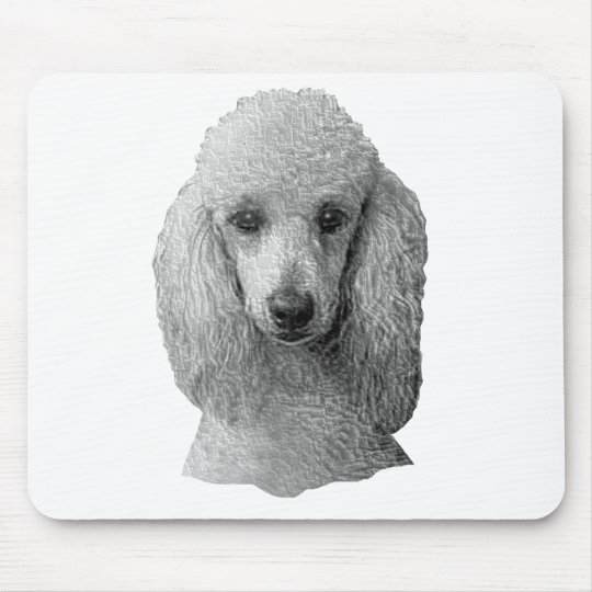 Poodle - Stylized Image - Add Your Own Text Mouse Pad