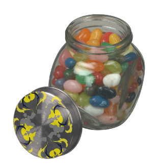 Poodle Sweets Glass Candy Jar