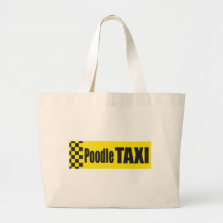 Poodle Taxi Tote Bags