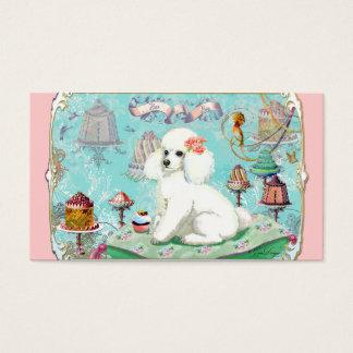 Poodle Tea Party Business Card