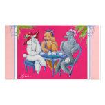 Poodle Tea Party Business Cards