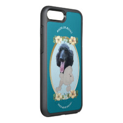 Poodle, Teal Floral OtterBox Symmetry iPhone 8 Plus/7 Plus Case