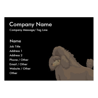 Poodle Template Business Card