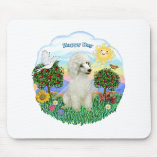 Poodle  (Toy or Min. - white #3) Mouse Pad