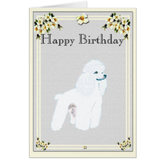 Poodle - Toy Poodle Card