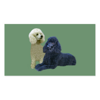 Poodle Twosome Business Card