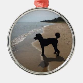 Poodle up North Metal Ornament