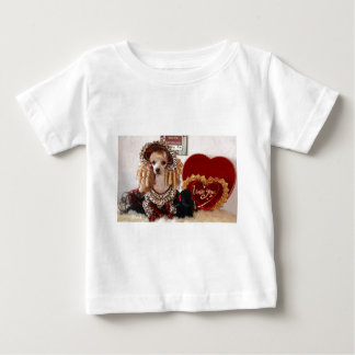 Poodle Valentine Love Dog Victorian Picture Baby T-Shirt