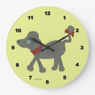 Poodle Wall Clocks Zazzle
