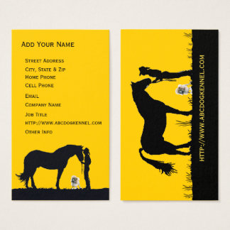 Poodle Western Silhouette Business Card