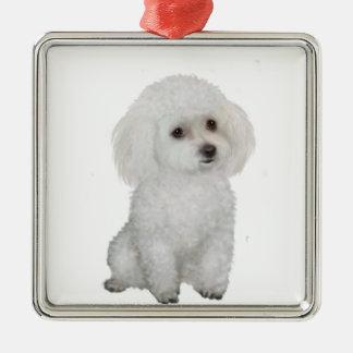 Poodle - white 1 christmas tree ornaments