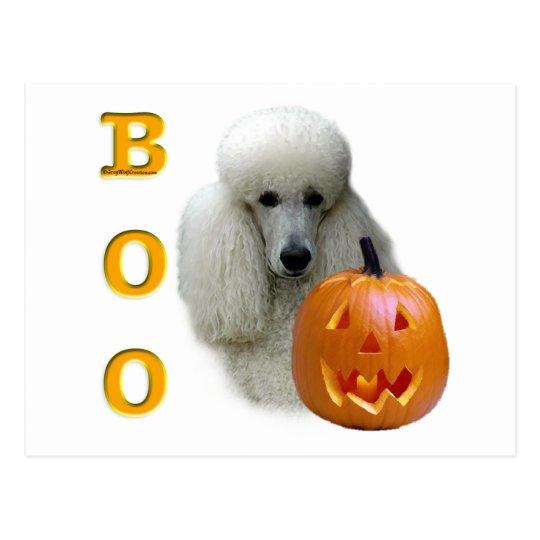 Poodle (White Coated) Boo Postcard