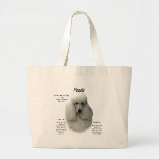 Poodle (wht) History Design Bags