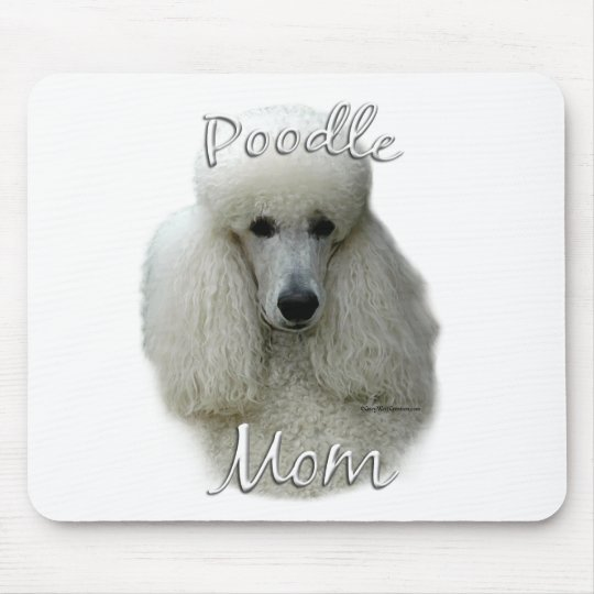 Poodle (wht) Mom 2 Mouse Pad