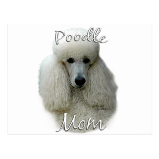 Poodle (wht) Mom 2 Postcard