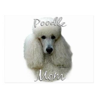 Poodle (wht) Mom 2 Postcard
